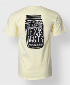 "Show your southern pride with this t shirt. Printed on a 100% cotton shirt the front features a pocket with a block ATM and reads ""Texas Agg..."