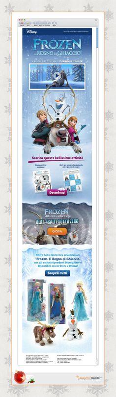 Brand: Disney | Subject: ❄ Ciao [NAME], scopri il mondo di Frozen da Natale al Cinema ❄ | Sending Date: November 14, 2013