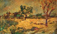 Orchard in Provence by Adolphe Monticelli