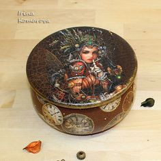 Steampunk, steampunk box, time fairy,  jewelry box, vintage style, steampunk accessories,