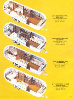 1969 airstream floor plans | from this sales brochure were copied with the permission of Airstream ...