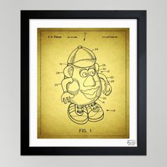Mr. Potato, 2001 - Blueprint by Oliver Gal Artist Co.
