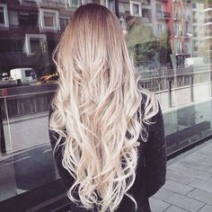If I can get to this length and stay blonde it will be a miracle