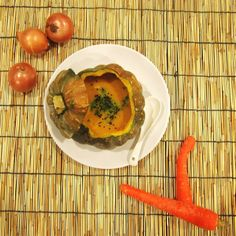 I made organic pumpkin soup for dinner #vegetarian #recovery #foodisfuel #pumpkin #soup #eatclean #organic