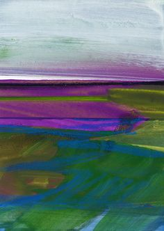 Journey... No.025 ... Original abstract landscape by Kathy Morton Stanion