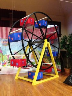 colossal coaster world vbs This is our ferris wheel for our vbs.  This was made from a large spool that held wire.  7ft tall!