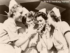Except for the hats that could be a current picture...I'm amazed at the number of nurses who still smoke!