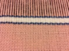 A detail of the silk stripes.