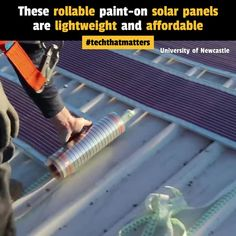 These paint-on solar panels harvest the sun's energy and are lighter, more flexible and less expensive. This organic solar ink conducts electricity and. 84 comments on LinkedIn Teen Gift Baskets, Future Energy, Green Business, Gifts For Teens, New Technology, Newcastle, Solar Panels, Lighter, Flexibility