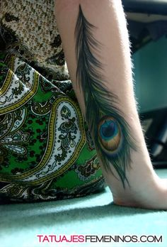 tatuaje de pluma de pavo real con infinito - Buscar con Google