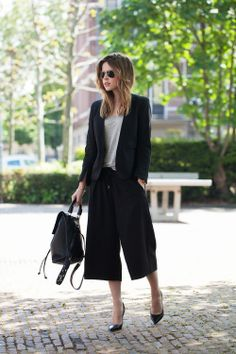 Black culottes - Fash n Chips