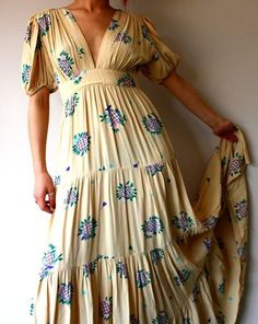 Ossie Clark w/ Celia Birtwell print maxi dress