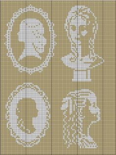 cameo X stitch pattern~ with a nod to Downton Abbey. Other X stitch & embroidery projects.