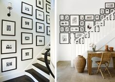 Décoration : des idées pour apprendre comment accrocher des photos et affiches encadrées pour réaliser un mur de cadres dans un escalier