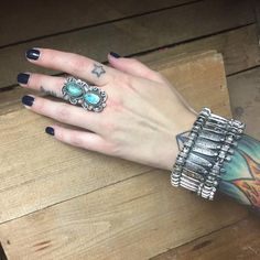 Turquoise Rings Boho  Bracelets