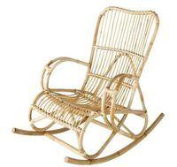 decoration jungle urbaine | Rocking chair rotin Maison du Monde