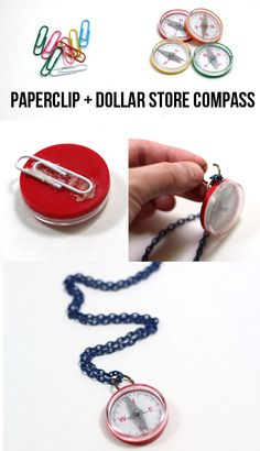 well, that& simple enough! And really kinda cute.CLEVER use of paper clip, could be used on other things and covered so kind of way. Vbs Crafts, Camping Crafts, Preschool Crafts, Craft Activities, Diy For Kids, Crafts For Kids, Everest Vbs, Bible School Crafts, Recycled Art Projects
