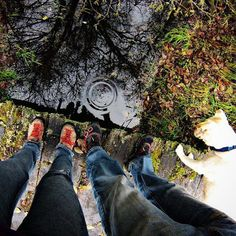 #reflections #iseeyou #gopro #getoutstayout #autumnleaves #hikingwithdogs #outdoorlife #adventurelocal #thatpnwlife by clarehoff4