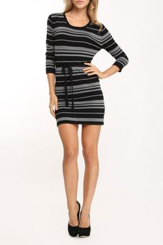 Fille a Suivre Taylor Striped Top >> Cute with leggings and boots or tights and flats! $35