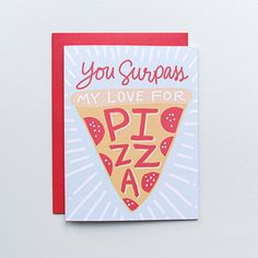 Pizza My Heart Valentine's Day Card