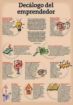 Decálogo del emprendedor #emprendedores #estudiantes #umayor