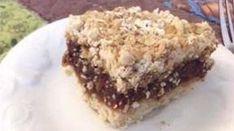 Recipe: Date Squares (No Sugar) Desserts With Biscuits, Ww Desserts, Delicious Desserts, Dessert Recipes, Date Squares, Sugar Free Recipes, Granola Bars, Diabetic Recipes, Deserts