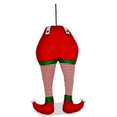 "Large Elf Butt and Legs Christmas Decoration Size: 27"" Color: Red, White, Green Has a hook on the back for securing. Legs will be bent for shippng  Arriving Summer 2015"