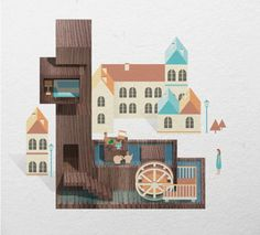 Resort Type by Jing Zhang, via Behance#Repin By:Pinterest++ for iPad#