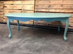 french style coffee table, painted with annie sloan country grey