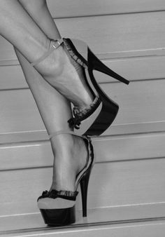Classic heels and stockings