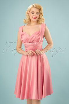 699c058bd5 Lindy Bop Terri Lou Pink Swing Dress 24572 20180102 0018w Frauenbilder,  Satin, Korsage,
