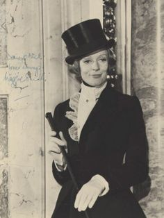 A young Maggie Smith love her! Love love love. Tophat and all! www.partyista.com