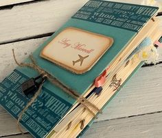 Scrapbook travel journal - make your own with supplies from here http://shop.vibesandscribes.ie/