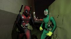 cosplaysleepeatplay:  webbedpockets:  cosplaysleepeatplay:  Deadpool (by D-Piddy) and Kick ass dancing team Gif by Geekyfans Video source: Cosplay | Pharrell Williams - Happy Parody   That's not Kick-Ass  Who is that?