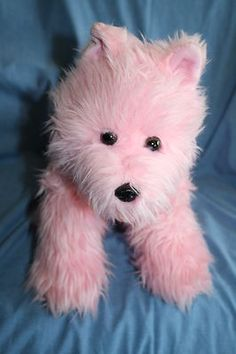 Build A Bear Pink Dog Darling Doggy Plush Stuffed Animal Westie Scottie Yorkie