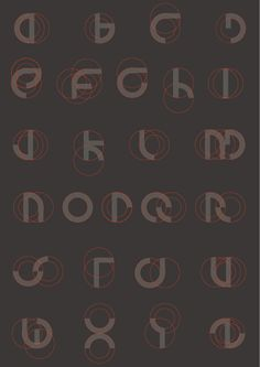 circles and parts of circles in circles Typography Served, Typography Fonts, Typography Design, Print Design, Graphic Design, Graffiti Alphabet, Calligraphy Fonts, Deconstruction, Letters And Numbers