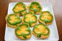 Green pepper shamrock mini-pizzas