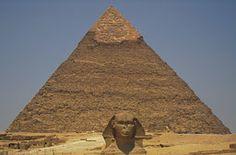 Pyramid and sphinx at Giza