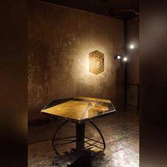 """""""Formazione di Cristallo"""" table in aged and oxidized brass. A unique piece designed and made by Carlo Trucchi, Italy, 2015. #erastudioapartmentgallery #erastudio #designgallery #collectibledesign #madeinitaly #artwork #uniquepiece #carlotrucchi #artist #contemporary #interior #igersmilan #placetobe #vsco #vcsogood #exhibition #unusualalloys #formazionedicristallo"""