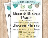 Beer n diaper party baby ideas Pinterest Diaper parties