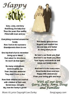 free printable 50th wedding anniversary poems