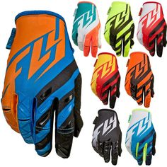 FLY Racing Kinetic Motocross MX Dirt Bike Youth Off-Road ATV Quad Gloves