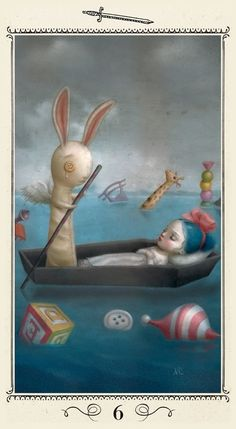 6 of Swords - Nicoletta Ceccoli Tarot