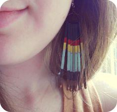 DIY bobby pin earings:)