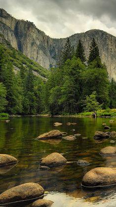 Beautiful Nature.. Mountains.. Water, rocks, trees!