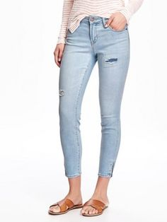 Old Navy Mid Rise Rockstar Patchwork Jeans For Women Tall – Sanora