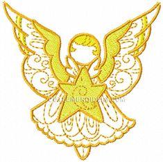 Free Embroidery Design: Angel - I Sew Free