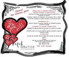 Sello de seguridad y calidad: Club Náutico Restaurante, Especial San Valentín 2014. Realiza ya tu reserva.