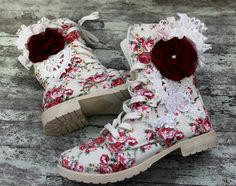 Shabby Chic Bohemian Clothing | Womens boots, shabby shoes, embellished, boho chic, RESERVED, rustic ...