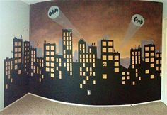 This skyline is something like how I want to decorate the walls of the space I'm using for my party